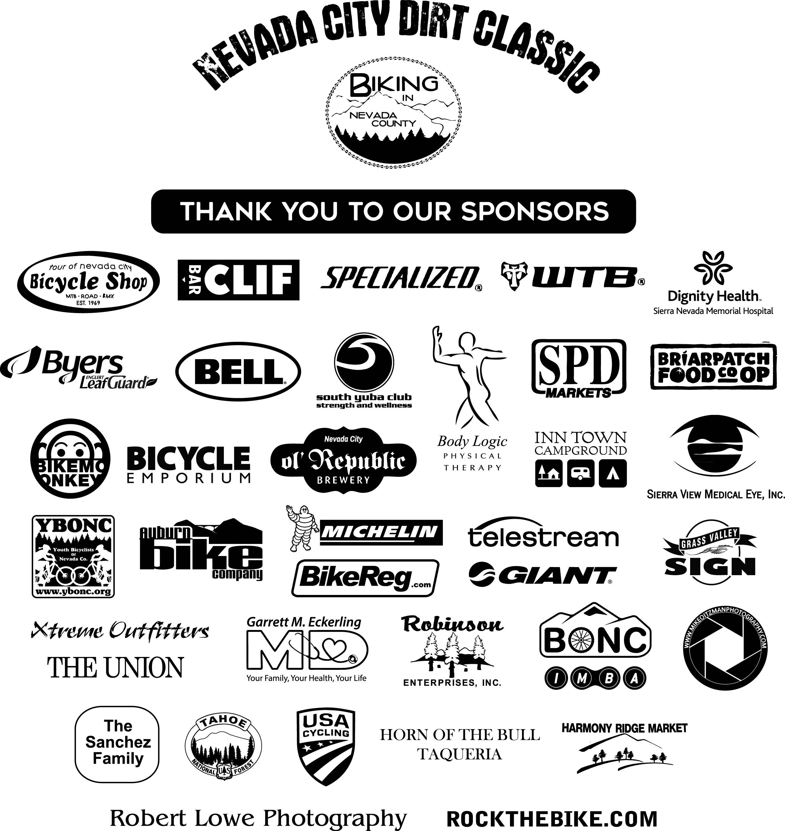 2017 Dirt Classic Sponsors